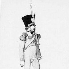Вольтижер 4-го линейного полка, 1814 г.