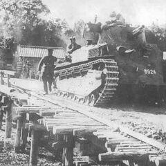 Тип 89 (бортовой номер 8924) на манёврах японской армии, начало 1930-х годов.