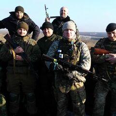 Бойцы батальона в зоне проведения АТО, декабрь 2014 г.
