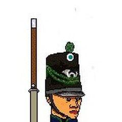 Солдат 1-го батальона Егерей Андской армии, 1818 г.
