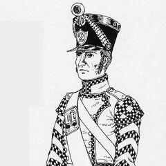Барабанщик 2-го линейного полка, 1812 г.