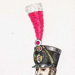 Музыкант 2-го линейного полка, 1813 г.
