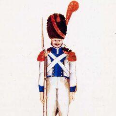 Гренадер 1-го линейного полка, 1815 г.