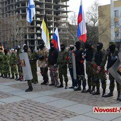 Одесская дружина в Николаеве, 28 марта 2014 г.