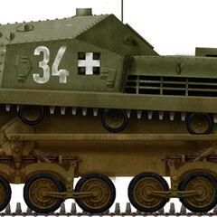 43M Zrínyi II 3-я батарея, 1-й батальон штурмовых орудий, Галиция, лето 1944 года.