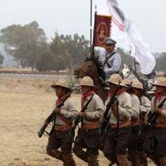 XX век, кадеты во время боя.