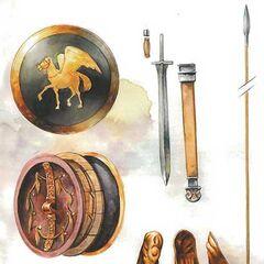 Вооружение греческого гоплита.