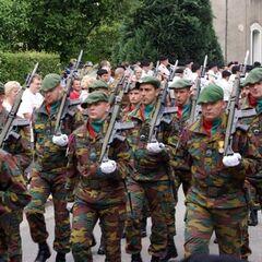 Современные части арденнских егерей на параде.