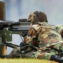 Американские солдаты тренируются в стрельбе.