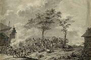 Атака конных егерей корпуса Крокова на французский обоз под Данцигом.