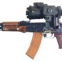 АК-74 с ночным прицелом.