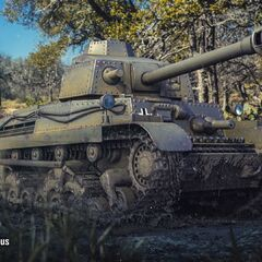Turán III prototípus в игре World of Tanks. Здесь он представлен в немецкой расцветке.