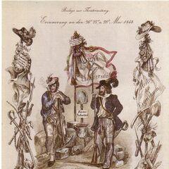 Рабочий и студент Венской революции в мае 1848 года.