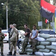 Правый Сектор принимает участие в блокаде Крыма.