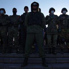 Одесская дружина во время марша 30 марта.