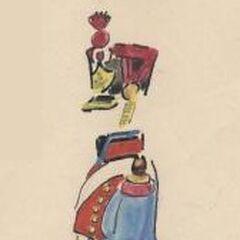 Артиллерист 2-го линейного полка, 1813 г.