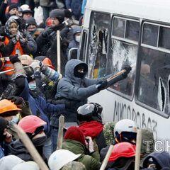 Начало противостояния на Грушевского, 19 января 2014 г.