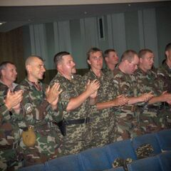 Бойцы батальона на концерте, 7 июля 2014 г.