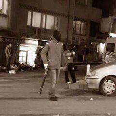 Бойцы марксистской организации городских партизан DHKP-C на улицах Стамбула, 15 февраля 2016 г.