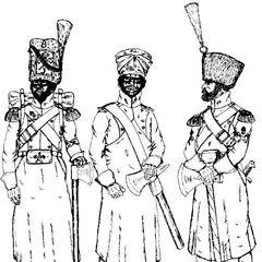 Саперы 7-го линейного полка, 1811 - 1814 гг.