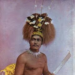 Самоанский король с ножом.