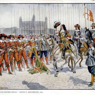 Пикинеры справа, 1650 год.