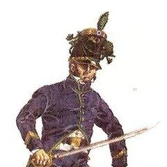 Офицер (лейтенант) егерей Анд.