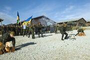 Ukraine soldiers from the 79th Airmobile Brigade on Camp Bondsteel, Kosovo 2010