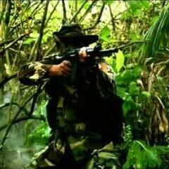 Австралийский солдат с FAL во Вьетнаме.