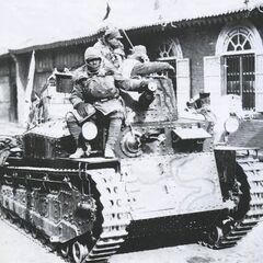 Тип 89 на улице одного из городов Маньчжурии.