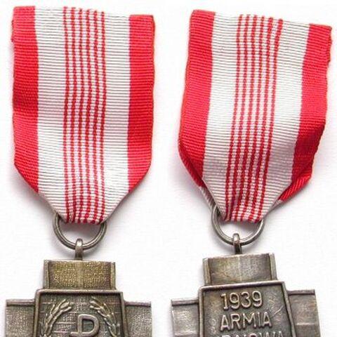 Наградной знак Армии Крайовой.