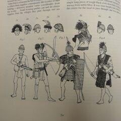 Воины аборы или ади в XIX веке. Прорисовки Яна Хита.