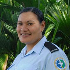 Девушка-полицейский из Самоа.