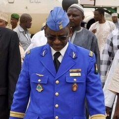 Полковник ВВС в светло-синей выходной форме и пилотке.