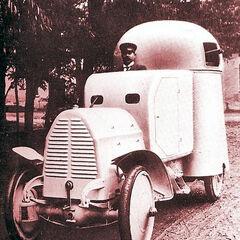 Первый вариант броневика Austro-Daimler Panzerwagen, с одним пулеметом в башне, 1905 г.