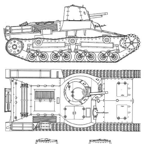 Проекции танка 2597