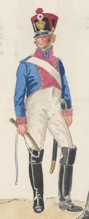 Погонщик, артиллерия 8-го полка, 1813 - 1815