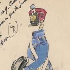 Артиллерист 9-го линейного полка, 1813 г.