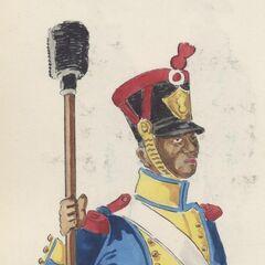 Канонир 7-го линейного полка, 1813 - 1815 гг.