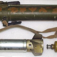Пусковая труба, снаряд и метательный заряд.