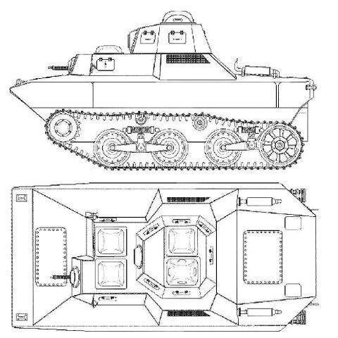 Проекции танка SR-III