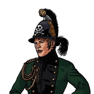 Офицер корпуса Крокова, 1807 г. Иллюстрация <a href=