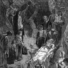 Раненный черногорец. Гравюра была опубликована в журнале