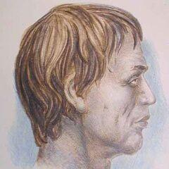 Графическая реконструкция внешнего вида мужчины по черепу из захоронения 19  Вихватинського могильника.