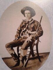 Fotografía de 1856 que retrata a un filibustero. Museo Histórico-Cultural Juan Santamaría, Alajuela, Costa Rica.