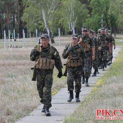 Тренировка батальона в военном учебном центре
