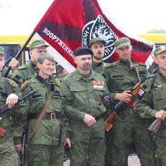 Батальон во время празднования 9 мая в Алчевске.