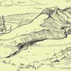 Вид на укрепленное поселение Жванец, этап CII.