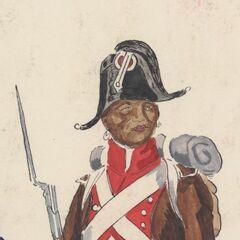 Фузилер Королевского Африканского полка, 1806 г.