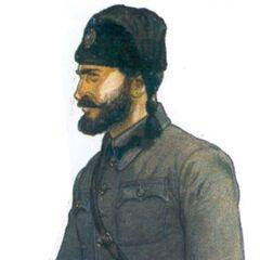 Офицер-четник в сербской форме, 1943 год. Это сочетание было довольно типичным.
